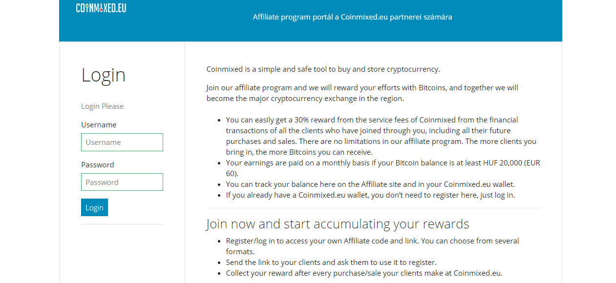 Earning bitcoin on Coinmixed: how to join our Partner Program?