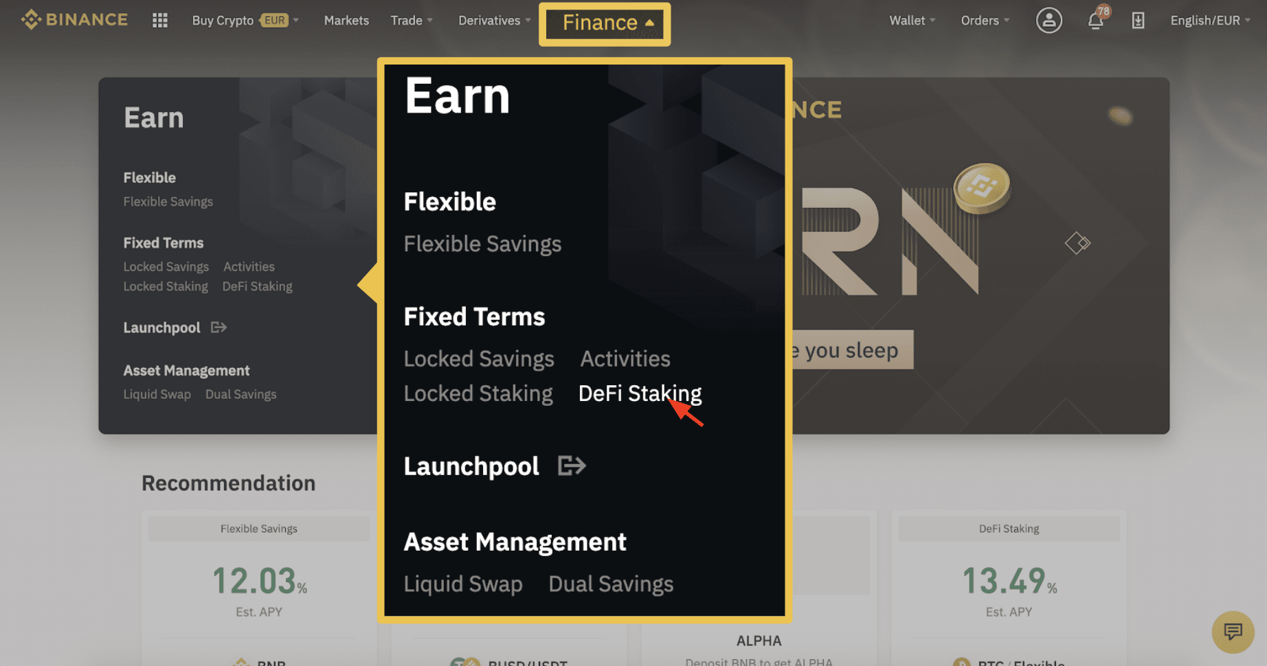 staking Binance